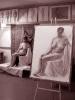 Figure/human form study. Paper, charcoal