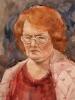Портрет женщины. Бумага, акварель 2006 г.